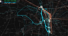 (h.a.i.k.e.) Tags: mapping 2016 leipzig move visualization cycling transport moveoscope kartographischebilder walk illustration cartography appmoveoscopecom graphic urbancirculation duration