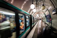 Cit (adrianchandler.com) Tags: platform urban underground paris tube city train cite stop france metropolitan subway station metro
