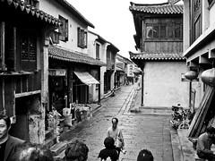 street in xitang (Ket Lim) Tags: shanghai china travels blackandwhite asia trips monochrome nanjing suzhou pudong bund canal xitang hangzhou travel streets