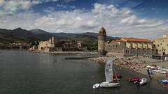 Agosto en la playa v9 - Matisse (ponzoosa) Tags: playa beach colliure matisse pintores port seaport castle fortress sea mediterraneo mar