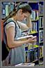 Expecting... (Mike Goldberg) Tags: woman mall reading jerusalem young pregnant bookshop hdr mikegoldberg panasonicfz35