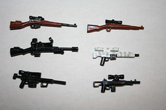 all of my snipers (SpontaneousRaptor) Tags: lego sniper intervention psg mauser leeenfield sniperrifle k98 kar98 psg1 k98k brickarms kar98k cheytac brickarmsmod cheytacm200 quickscope m21ebr mk14mod0