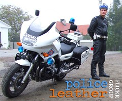 Police Leather Group (MCLeather) Tags: man hot sexy male men guy leather athletic uniform cops masculine manly police hunk guys motorbike cop moto motorcycle biker guapo polizei officer leatherjacket pe