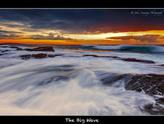 The Big Wave (John_Armytage) Tags: ocean sea seascape clouds reflections movement rocks sydney wave australia textures nsw canon5d longreef northernbeaches canon1635l johnarmytage wwwjohnarmytagephotographycom