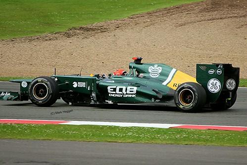 Heikki Kovalainen's Caterham at Silverstone