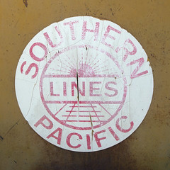 SOUTHERN PACIFIC LINES (TRUE 2 DEATH) Tags: railroad train logo rust railcar mow weathered boxcar railways railfan freight herald southernpacific freighttrain rollingstock uprr southernpacificlines  benching trackmaintenance railroadlogo mowequipment ricohgriv railroadserviceequipment