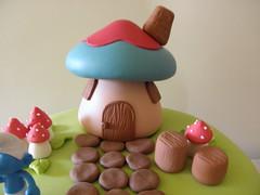 casinha smurfs (Lucianna Chaves) Tags: cake bolo smurfs