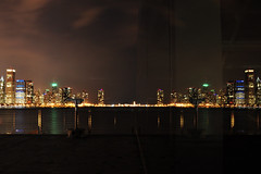 Mirror Image (Seth Oliver Photographic Art) Tags: nightphotography chicago reflections illinois nikon midwest nightlights iso400 cities cityscapes lakemichigan nightshots southloop pinoy nightscapes circularpolarizer chicagoskyline urbanscapes secondcity windycity longexposures chicagoist d90 nightexposures alderplanetarium cityofbigshoulders manualmodeexposure 25secondsexposure setholiver1 aperturef180 tripodmountedshot 1024mmtamronuwalens timedelaytriggeredshot croppedforcomp