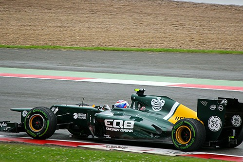 Vitaly Petrov in his Caterham F1 car at Silverstone