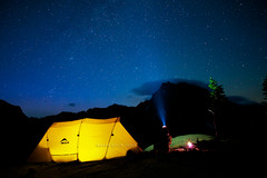 A Backpacker's Portrait (mj.foto) Tags: longexposure camping night stars hiking backpacking astrophotography cascades msr overnight milkyway esmeralda dragontail mountstuart ingallspass headlightbasin nikond700 Astrometrydotnet:status=failed zeissdistagon21mm markjosue Astrometrydotnet:id=alpha20120754221581