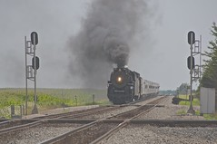 The employee special trip on Sunday 07/22/12 from Bellevue, OH. to Bucyrus, OH. and return. (THE RESTLESS RAILFAN) Tags: railroad ohio sun train raw ns engine special trips steamers