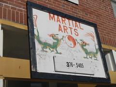 Martial Arts (wonder_al) Tags: sign dragon kentucky dragons martialarts karate yinyang taijitu whitleycity