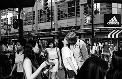 Every time we kiss (zenlibra) Tags: toronto film monochrome streetphotography leicam6 kodak400tx hc110b filmwins zeiss35mmf28biogon believeinfilm
