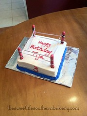 Wrestling Cake, Fort Worth, TX, www.birthdaycakes4free.com