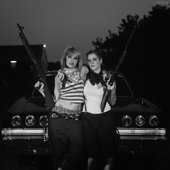 Ritzy_Peach thugfilm019 (Onelog Photography) Tags: lighting sexy film tattoo polaroid losangeles friendship nashville gang hardcore 600 40 shotgun bandana impala handgun gangsta speedlight pinup brassknuckles acros rollin pushprocessed baller goldframe thelmaandlouise princesspeach ritzyriot