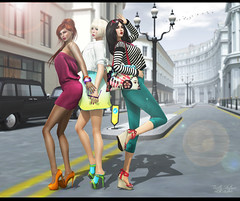{ The Girls } (Trinetty Skytower) Tags: street girls summer digital photoshop pose photography bright modeling avatar style sl secondlife virtual glam es mayfair essentialsoul trinettyskytower
