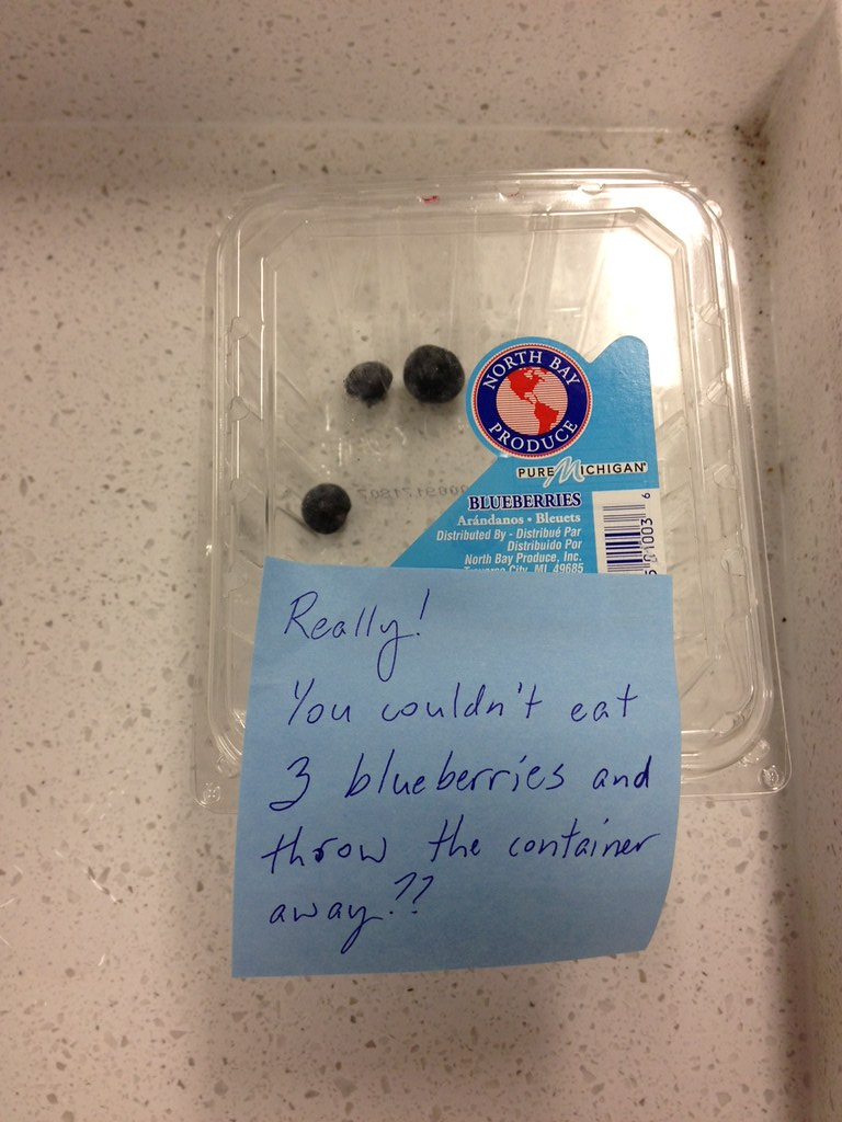 Really! You wouldn't eat 3 blueberries and throw the container away??