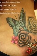 woman butterfly and flower tattoo /Kelebek ve çiçek bayan dövme 1 (taksim beyoğlu dövmeci) Tags: woman art tattoo artist femme models drawings istanbul tattoos taksim examples vrouwen tatouage bayan mannen kiz modèle modelleri dovme çizimler dovmeciler dovmemodelleri dovmesi