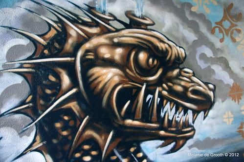 Sea Monster Head - Graffiti by Feek & Paris
