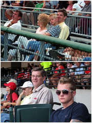 A Decade and Two Ballparks Apart (Guy Fisher) Tags: family guy sports mom diptych pittsburgh baseball cleveland cody clevelandindians pncpark pittsburghpirates gatewaydistrict progressivefield dad