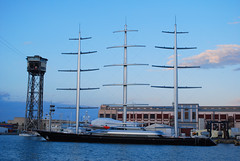 Maltese Falcon at Barcelona Port (Henry_UY) Tags: barcelona yacht maltesefalcon