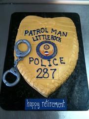 Police Badge (Amanda's Caketastic Creations) Tags: birthday cake retirement policebadge