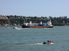 Qubec - Le Saint-Laurent - Traffic fluvial (eburriel) Tags: boat cargo qubec bateau fleuve