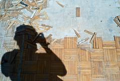 Parquet Floor (hishma) Tags: shadow selfportrait utah construction floor destruction urbandecay citylife streetphotography demolition saltlakecity parquetfloor vacantbuilding urbanscene leicam8 urbantourism summicronm1235mm