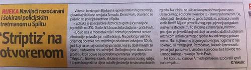 Striptiz na otvorenom (Sportske Novosti, 24.07.2012)