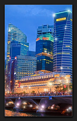 Singapore (Albert Photo) Tags: reflection skyline night skyscraper lights singapore asia nightscape cbd singaporeriver marinabay thefullertonhotel centralbusinessdistrictcbd esplanadedr