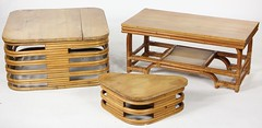 2050. (3) Paul Frankl Rattan Tables