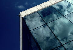 Reflections - Oslo Opera (+PeterCH51+) Tags: light sky house building window oslo norway architecture clouds reflections opera scandinavia northerneurope nordiclight mywinners osloopera scandinavianlight peterch51