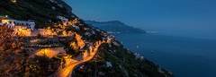 The Drive... (Dylan Farrow) Tags: sea italy mountain night evening coast amalficoast amalfi pixelpost flickrpost 5dmarkiii