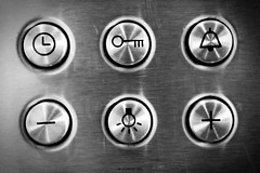 Appliance of Science (Zo0Bear) Tags: our light bw white black canon project keys photography mono photo icons flickr time bell lock buttons science daily round button gradient plus 365 symbols challenge appliance minus odc 366 550d zmt