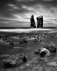 Twin-Towers (petefoto) Tags: longexposure sea blackandwhite seascape portugal water clouds landscape rocks boulders coastal twintowers filters foreshore azores saomiguel polariser volcanicrocks nd110 nikond700 bestcapturesaoi elitegalleryaoi mygearandme mygearandmepremium mygearandmebronze mygearandmesilver mygearandmegold mygearandmeplatinum mygearandmediamond leefilters09hgrad photographyforrecreationbwclassic