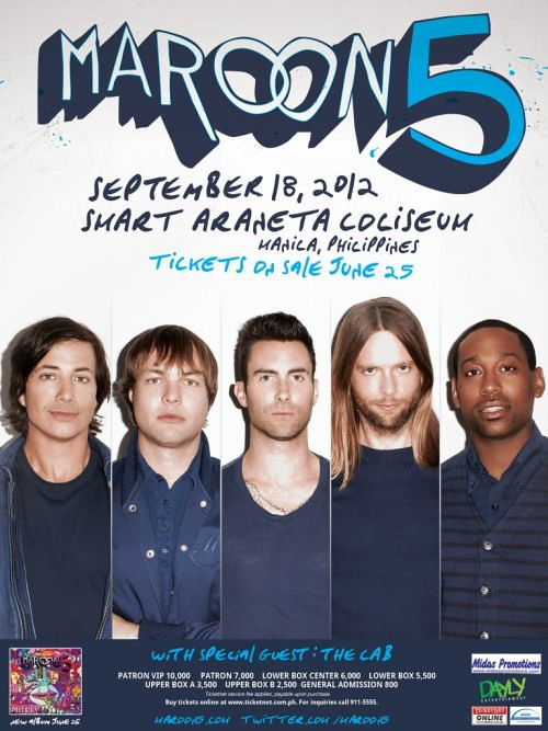 Maroon 5 Live in Manila Concert 2012 at Smart Araneta Coliseum