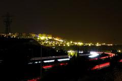 Camino de la Ciudad (BleDuS - BDSFotografia.com) Tags: city longexposure cars night stars noche nikon highway ciudad valladolid autopista estrellas coches estela largaexposicion d40 estelas