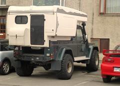 Land Rover Defender 110 Camper - Reykjavik (Sim's pics) Tags: iceland conversion 110 pickup rover reykjavik land mazda camper defender mx3 demountable