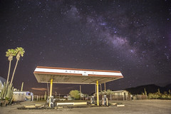 Abandoned Gas Pump (Brock Whittaker Photography) Tags: arizona sky classic phoenix clouds america photoshop canon stars photography 50mm long exposure mark 8 olympus junction gas pump brock 5d 24mm starry arid edit f12 maricopa whittaker 2428 24105l milkywaygalaxy