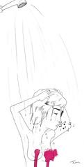 Silbido (Jstiw) Tags: agua chica ducha labios dibujo rosas pelo ilustracion pezones pechos notasmusicales silbidos