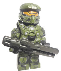 Halo 4 Master Chief (MGF Customs/Reviews) Tags: brick lego chief 4 halo master figure affliction