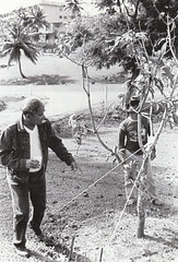 Gov. Bordallo and Grounds Keeper