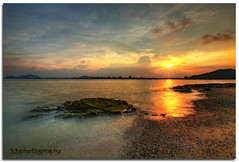-- Fire on the Water -- (Lim Su Seng) Tags: sunset cloud sun rock sand dusk wave malaysia hdr terengganu hdri waterscape kemaman photomatix nd8 nd09 leefilter leend09 canonef1635 5dmk3 telagasimpul ssphotography leeproglass limsuseng