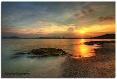 -- Fire on the Water -- (Lim Su Seng) Tags: sunset cloud sun rock sand dusk wave malaysia hdr terengganu hdri waterscape kemaman photomatix nd8 nd09 leefilter leend09 canonef1635 5dmk3 telagasimpul ssphotography leeproglass limsuseng