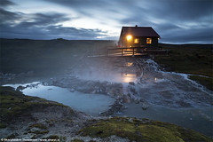 Hotspring party in Hveravellir, central highlands of Iceland (skarpi - www.skarpi.is) Tags: travel blue summer sky sun hot green pool sunrise landscape island iceland highlands dynamic earth extreme central silk blowing blow steam highland hut tub kofi traveling burst scape hotspring geo geothermal geysir cosy sland auroraborealis hiti skyskape centralhighlands hveravellir kjlur hver kerlingarfjll dynamik northenlights bstaur kjolur kjalvegur nakedearth hlendi hlendi kerlingarfjoll hverasvi skarpi extremesky jarhiti jarvarmi steamblow traveliceland skarphinnrinsson blowinggeysir centralhighlandsiceland kskvld hveravllum dynamiksky