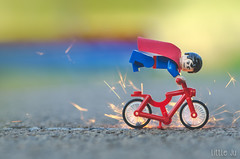 Too much power (little ju !) Tags: bike real power lego superman minifig nophotoshop dccomics superheroes spark hros