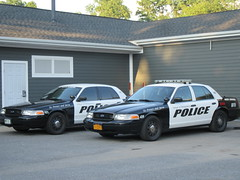 Village of Montgomery, New York (Finch1525) Tags: white black cars car police cop slicktop
