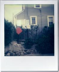 (mjohnso) Tags: newjersey jerseyshore oceanbeach sign polaroid 300film 300