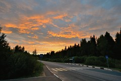 Закат лета где-то в Подмосковье Sunset of summer somewhere in Moscow suburbs