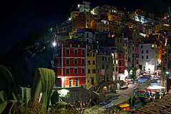 Riomaggiore at Night III (Nifty_Shoes) Tags: holidaysnaps cinqueterre italy summer 2016 corniglia riomaggiore manarola